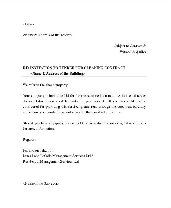 Free Business Proposal Letter 32 Sample Business Proposal Letters - cleaning proposal letter