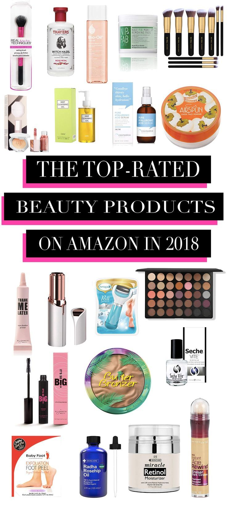 The TOP-RATED Beauty Products On Amazon for 2018!