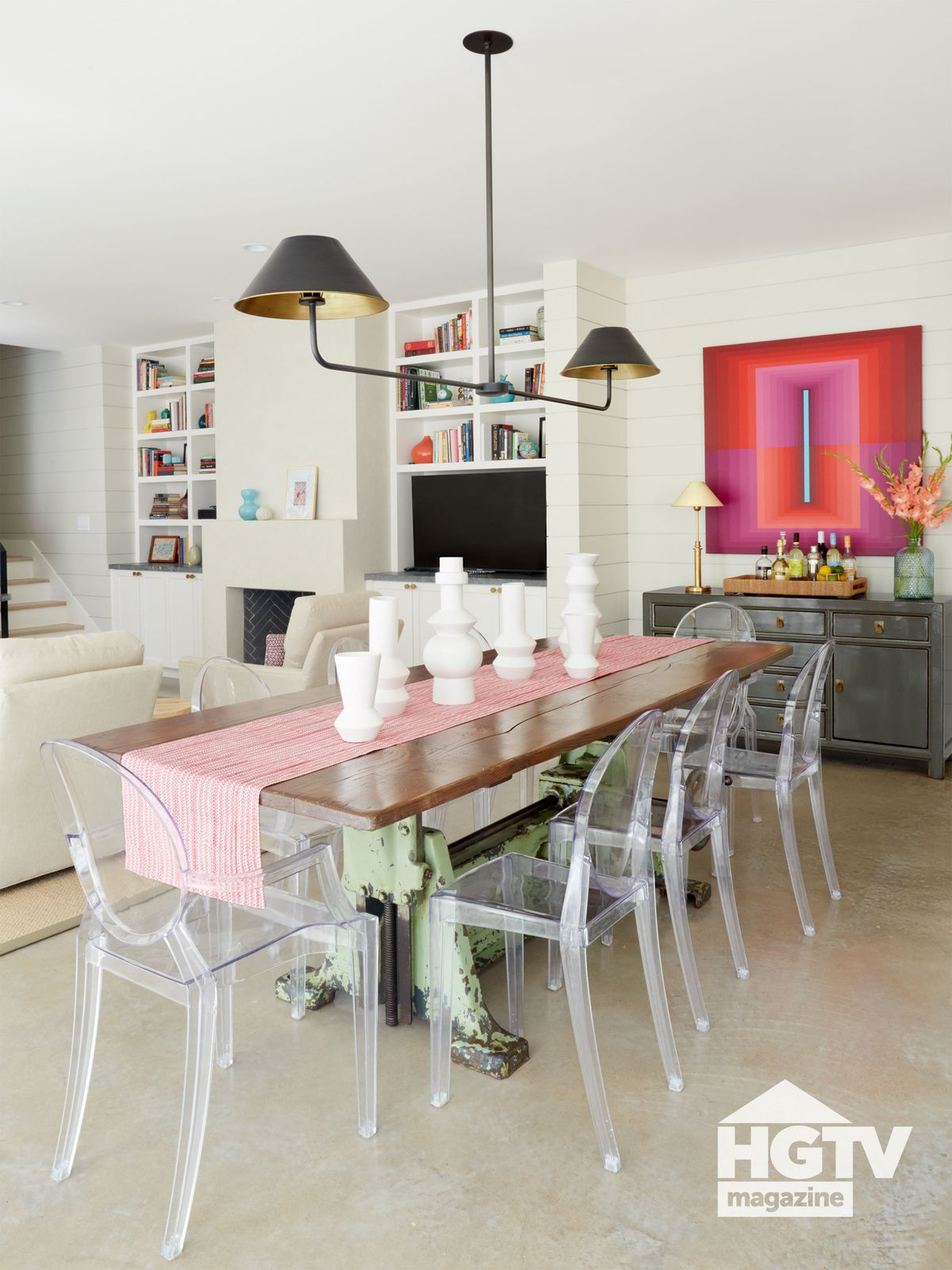 A contemporary dining room from HGTV Magazine