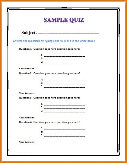 quiz template download quizsurvey player templates for