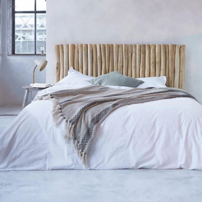 Tête de lit en teck flotté 180cm - Mobilier pour la chambre - Tikamoon