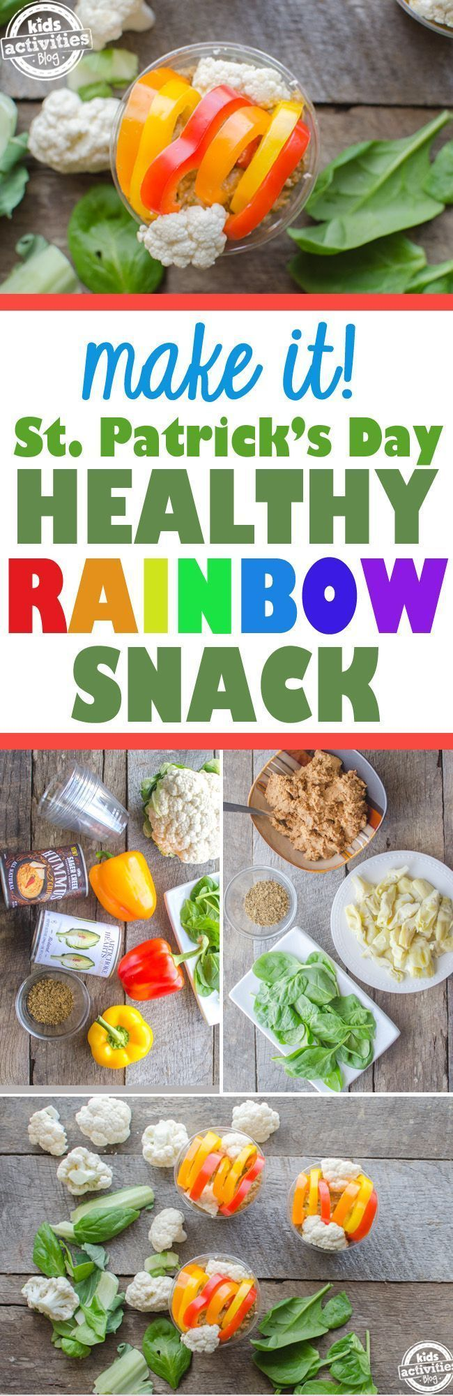 Edible Rainbow Craft: A Healthy St. Patrick's Day Snack!