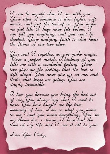 Sample Romantic Letters For Her Love Letters For Her Sample Love - romantic love letters