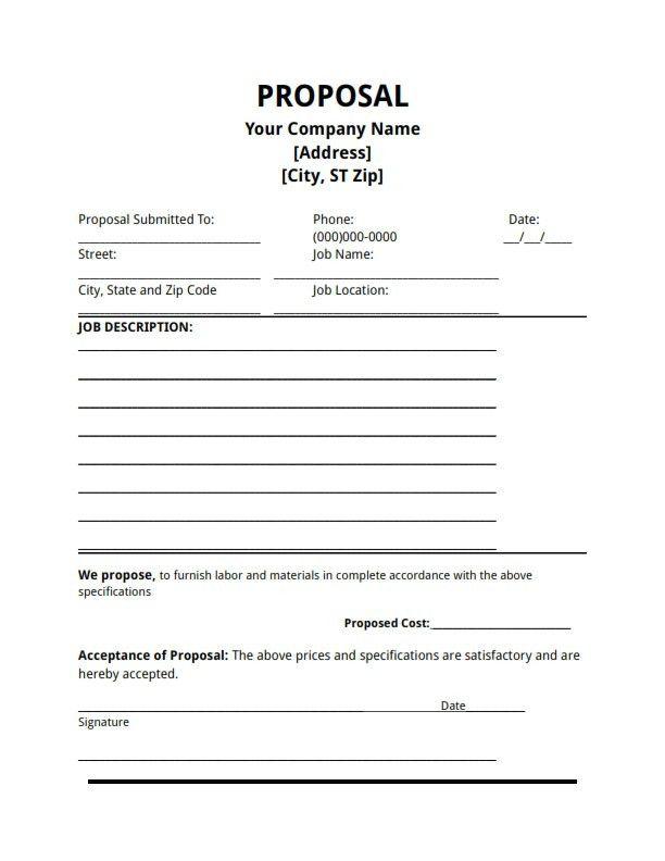 Bidding Proposal Sample Bid Proposal Template 6 Best Proposal - price proposal template