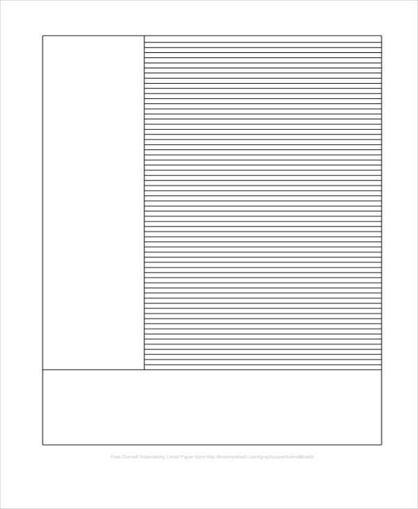 Template For Lined Paper Lined Paper Template Free Premium - sample lined paper