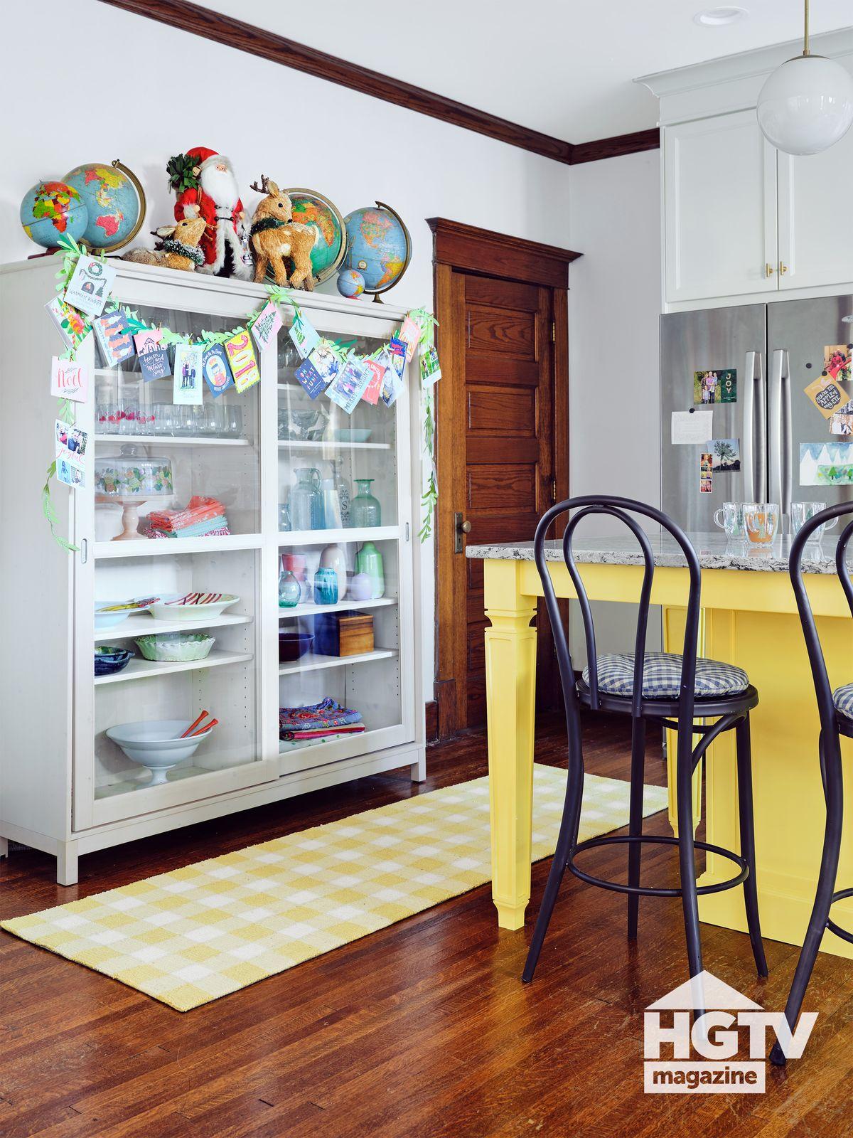 A bright kitchen nook featured in HGTV Magazine
