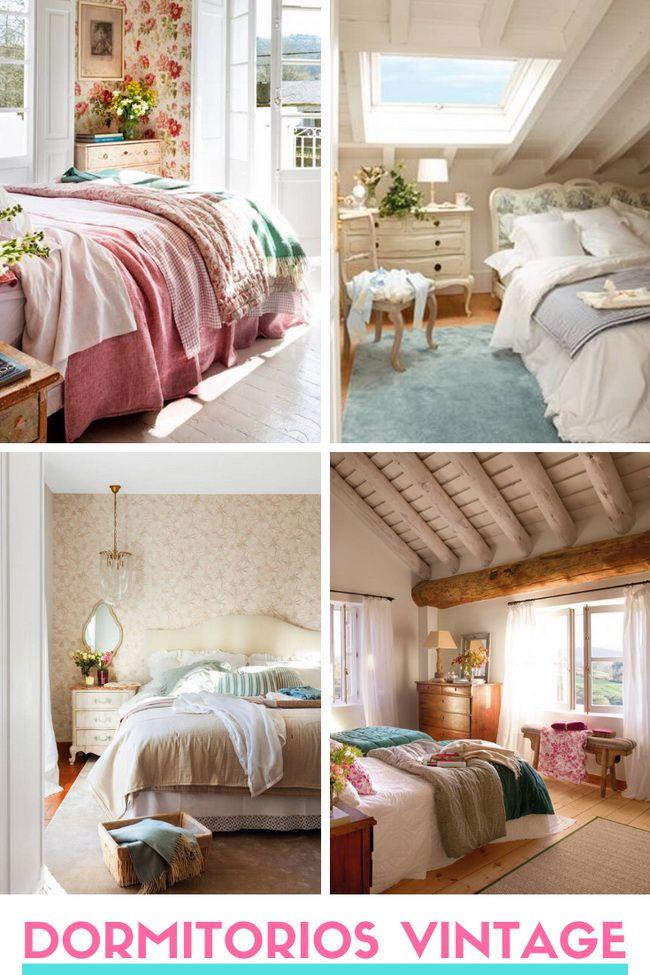 ▷ Dormitorios vintage. Claves para decorar dormitorios vintage.