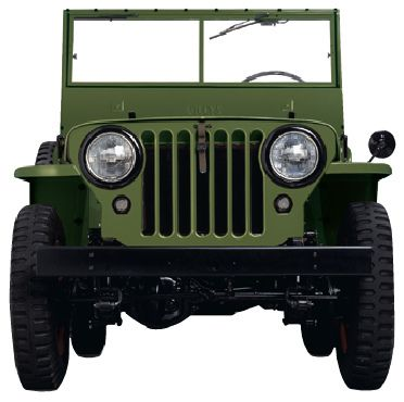 Old Jeep Front View