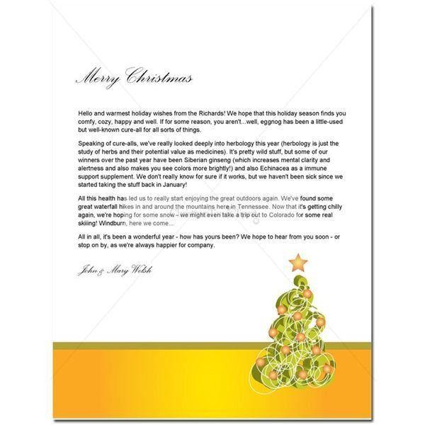 Christmas Letter Format 15 Christmas Paper Templates Free Word - christmas letterhead templates word