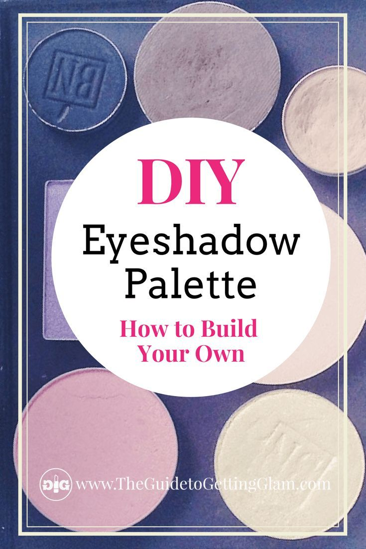 The Best Eyeshadow Palette DIY. What is the best eyeshadow palette? One that you can make yourself out of what you already own! Read this makeup tutorial about how to create your own eyeshadow palette out of your favorite eyeshadow pots. #eyeshadowpalette #besteyeshadowpalette