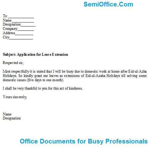 ... Application For Leave Template Request For Leave Of Absence   Format Of  Leave Form ...