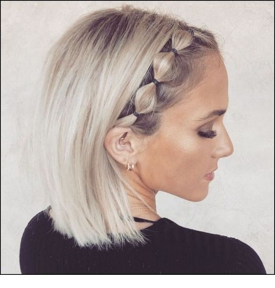 Cool blonde hair with a new braided trend