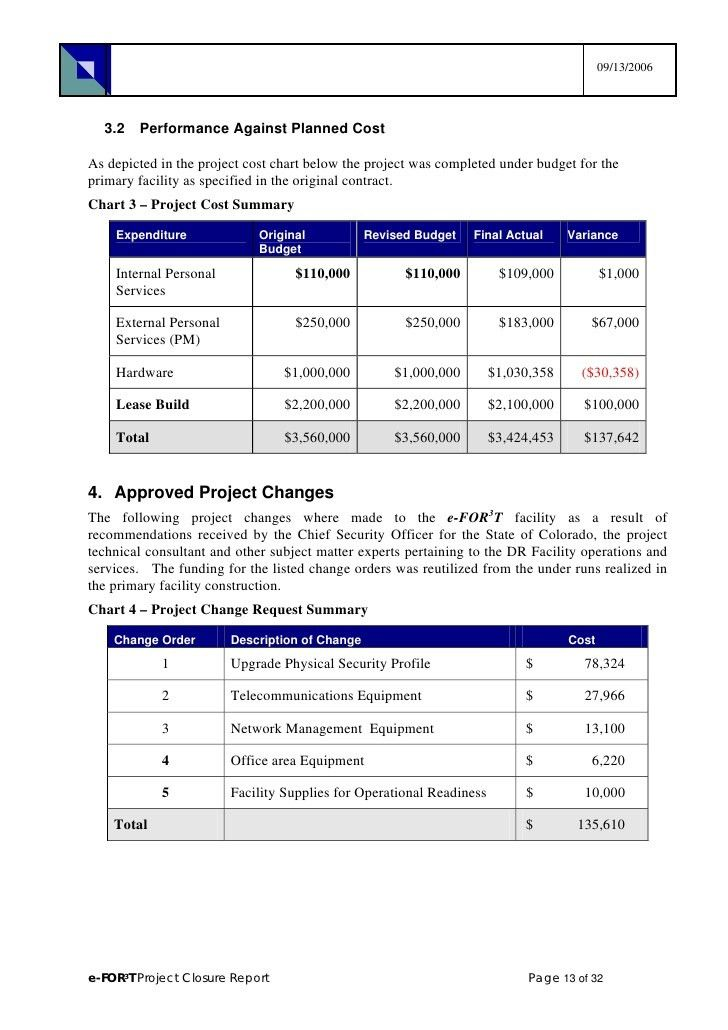 Project Completion Report Sample Project Completion Report 8 - project completion report