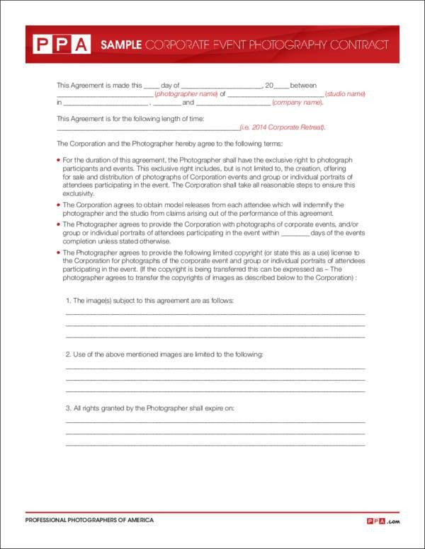 Photographer Contract Template 25 Best Photography Contract Ideas - photography contracts