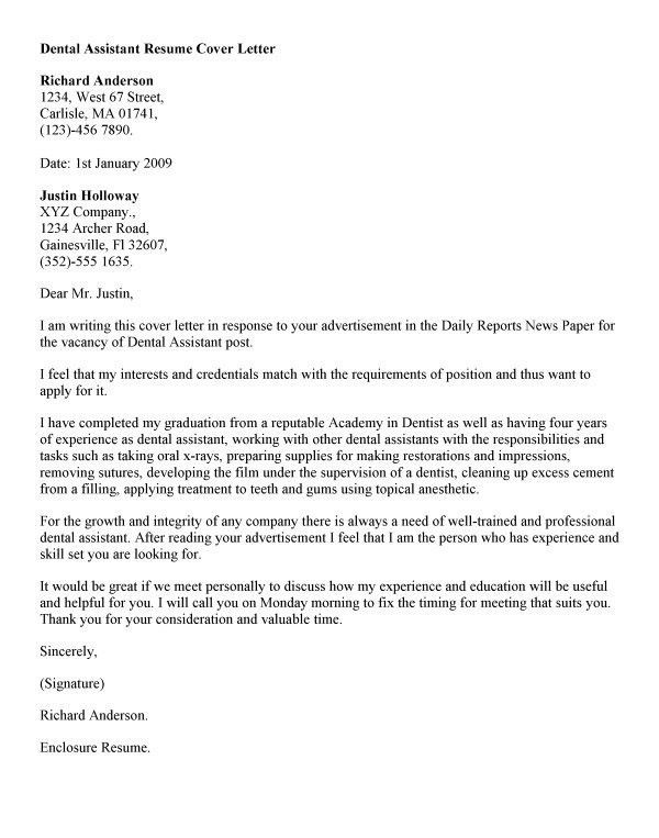 Awesome Oral Surgeon Assistant Cover Letter Contemporary ...