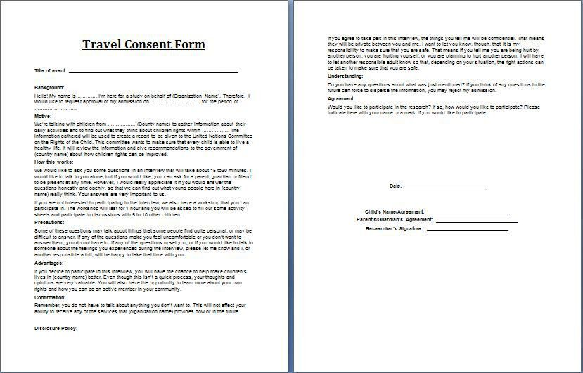 Blank Consent Form Consent Form Template 9free Word Pdf Documents - research consent form template