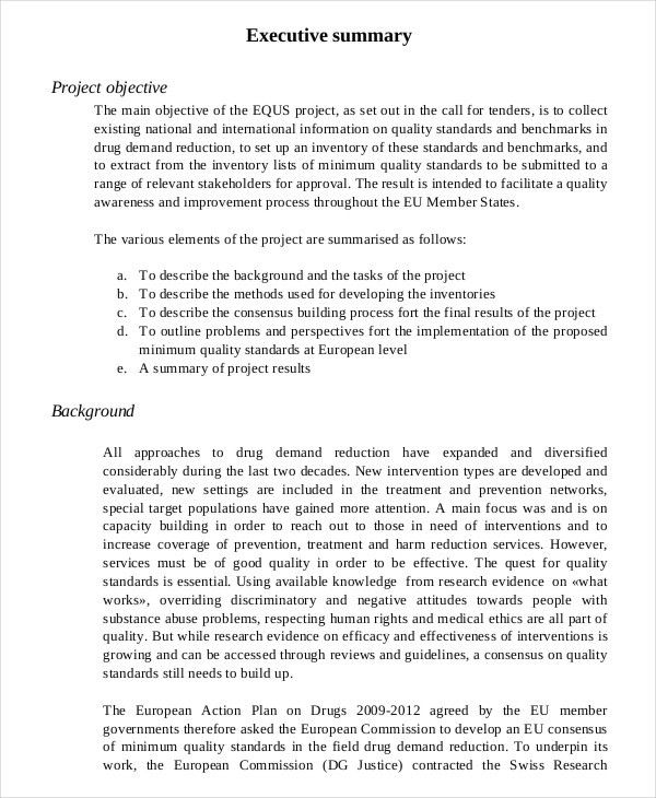 Report Executive Summary Example 31 Executive Summary Templates - executive summary format for project report