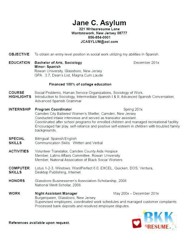 Graduate School Resume Example Sample Resume For Graduate School - resume samples graduate school
