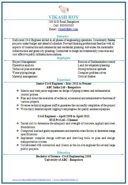 curriculum vitae resume format doc