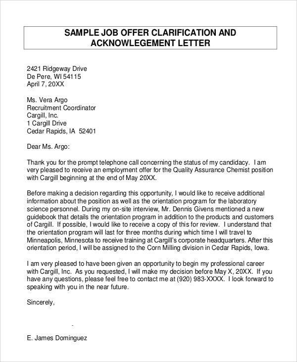 Cover Letter For Offer Letter It Job Cover Letter, Real Estate - real estate offer letter