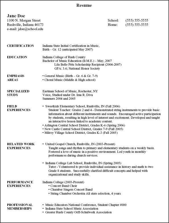 Musician Resume Example Music Resume Sample Resume Genius, Music - theatre resume examples