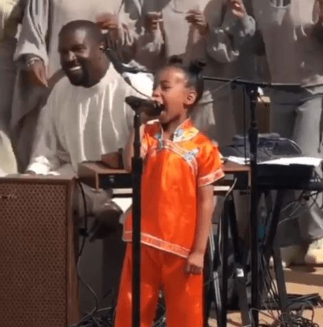 North West Steals The Spotlight While Performing During Kanye's Sunday Service