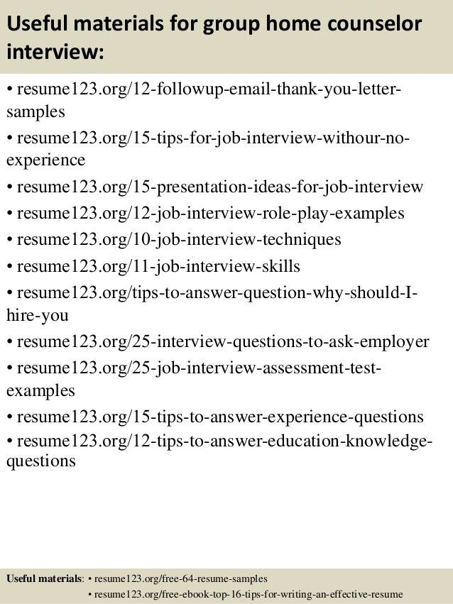 resume for school counselor