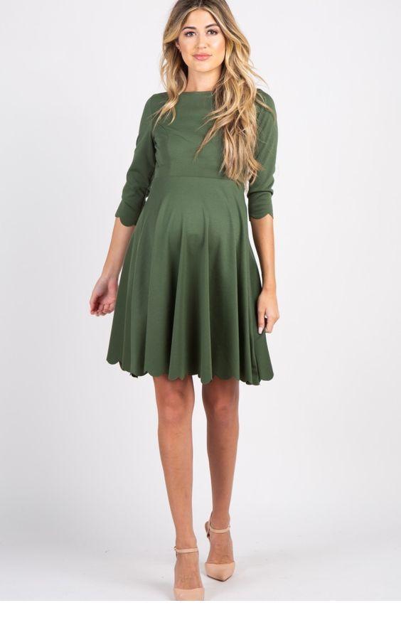Sweet olive mom dress