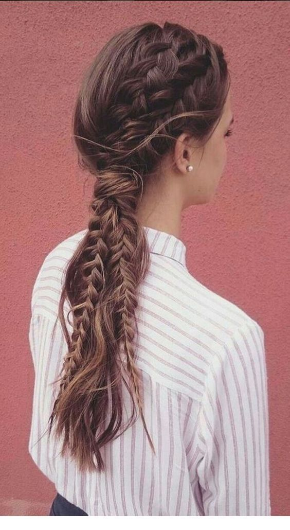 Romantic hairstyle with braids