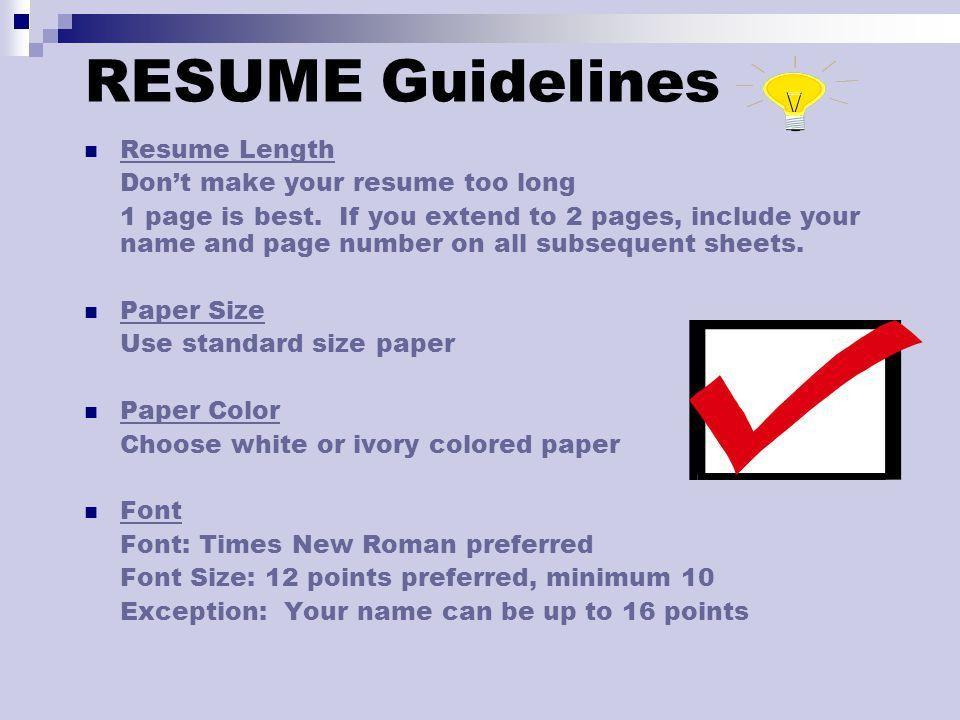 resume ppt