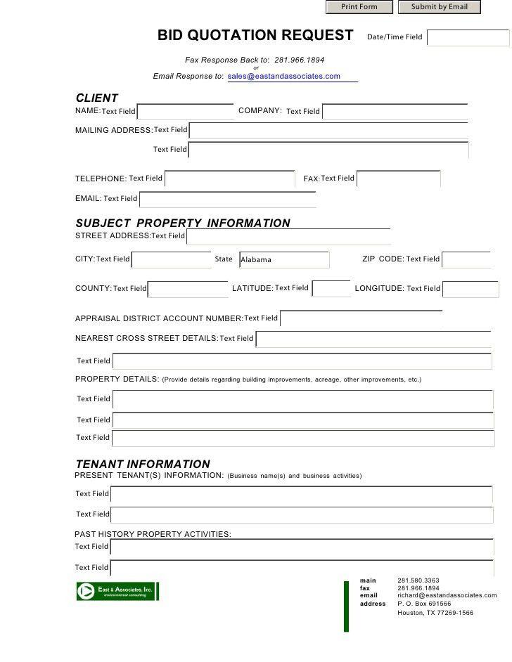 Bid Format Bid Proposal Template 12 Free Word Excel Pdf Documents - bid format