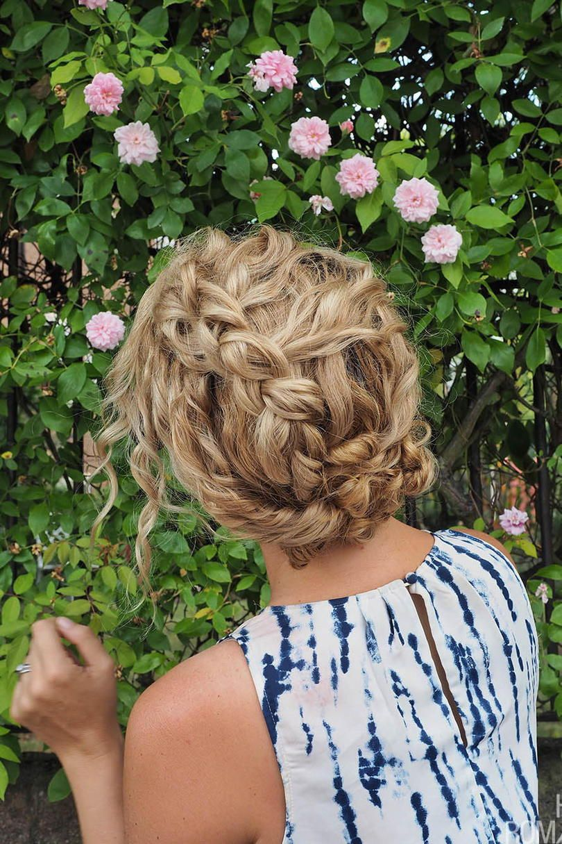 English Rose Twisted Undo | This easy and elegant style works beautifully for curly hair. #hair #styles #southern #beauty #southernliving