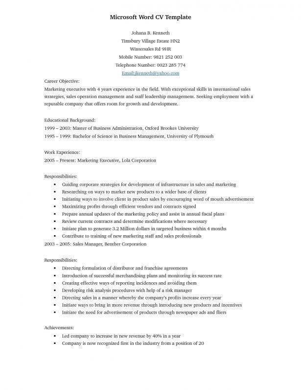 Best Way To Format A Resume Interesting Design Ideas How To - resume template copy and paste