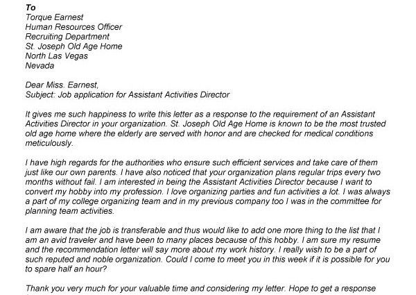 beaufiful activity director job images gallery cover letter