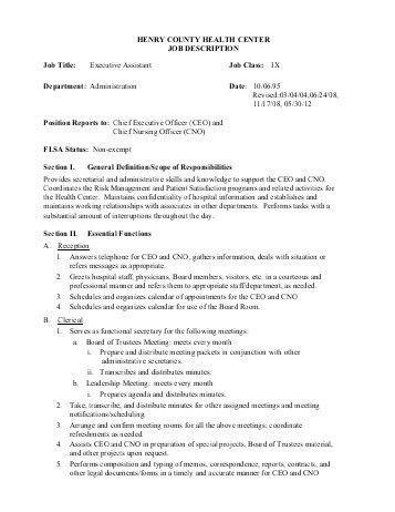 Cno Job Description Chief Nursing Officer - ceo job description