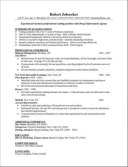 Resume Special Skills Example - Examples of Resumes