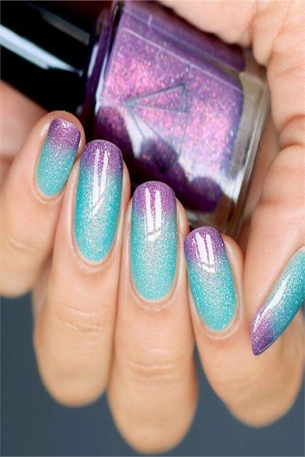 30+ Pretty Ombre Nail Art Designs – Fashonails
