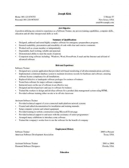 Personal Skills For Resume Examples - Examples of Resumes