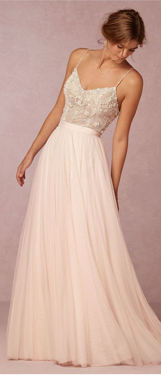 Just a white romantic dress