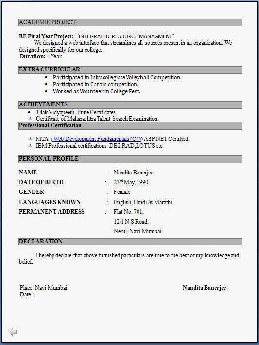 std resume format standard resume templates to impress any updated resume formats - Updated Resume Templates