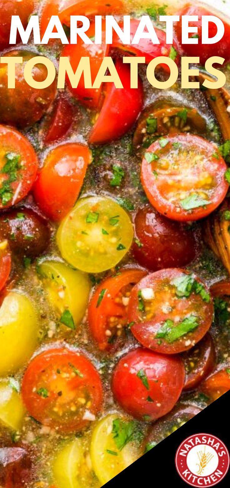 Marinated Cherry Tomatoes Recipe - NatashasKitchen.com