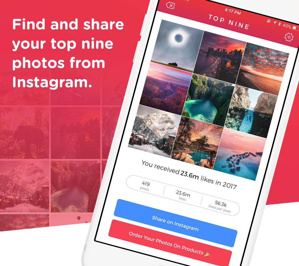 Top Nine for Android  Find and share your Top Nine Instagram photos from this year