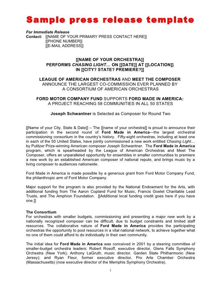 Press Release Template Latex Templates Press Release, Press - press release template
