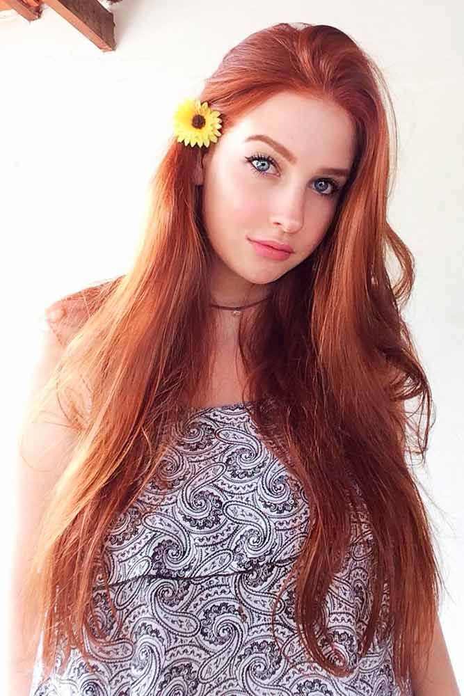 Beautiful Red Hair Color For Long Straight Hair #redhair #longhair ★ Explore tips on how to get straight hair. Our tips will work for short, medium, and long haircuts. Enhance the natural texture. #glaminati #lifestyle #straighthair