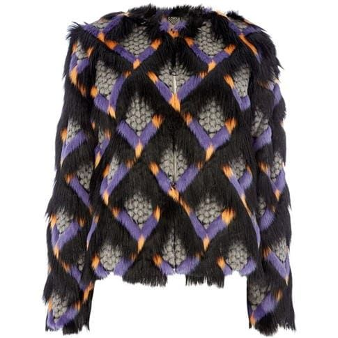 Biba - Diamond Faux Fur Jacket