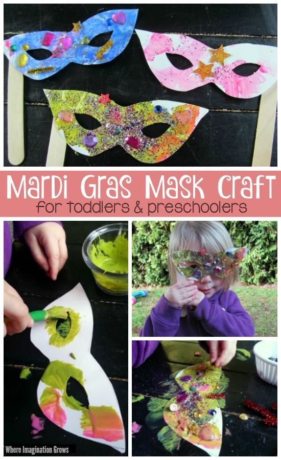Mardi Gras Mask Craft for Toddlers