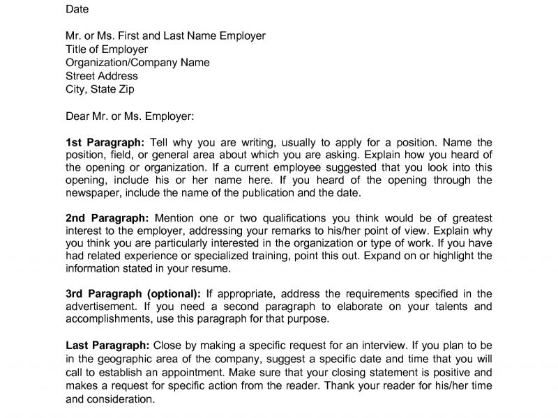 police chief cover letters