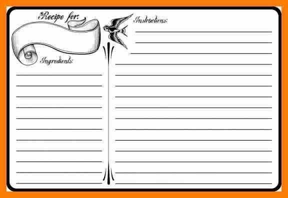 Free Recipe Template Word Free Printable Recipe Card Template For - free recipe card templates for microsoft word