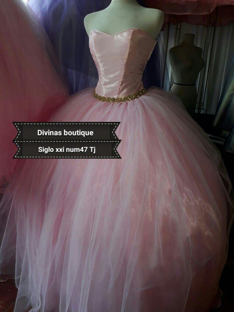 Vestido De Xv Años Color Rosa Pastel Tijuana Mx Vestidos