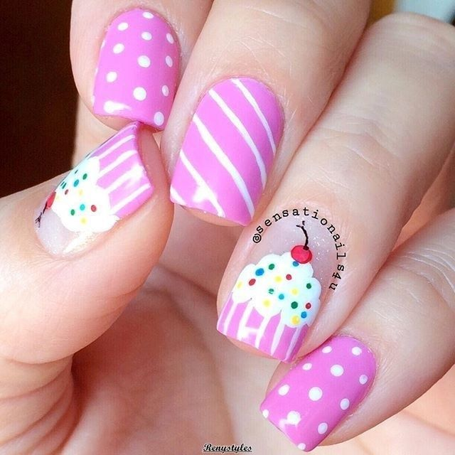 Cupcake nail art ideas Newest Look – Reny styles